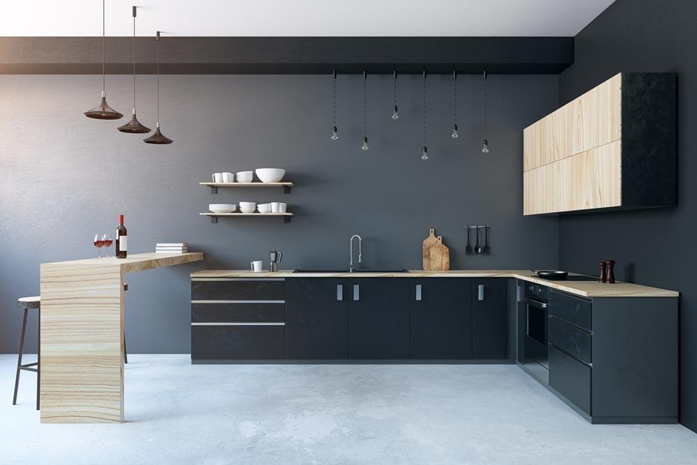 Dunkle Küchen